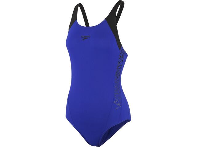 speedo Boom Splice Muscleback Maillot de bain 1 pièce Femme, blue/black